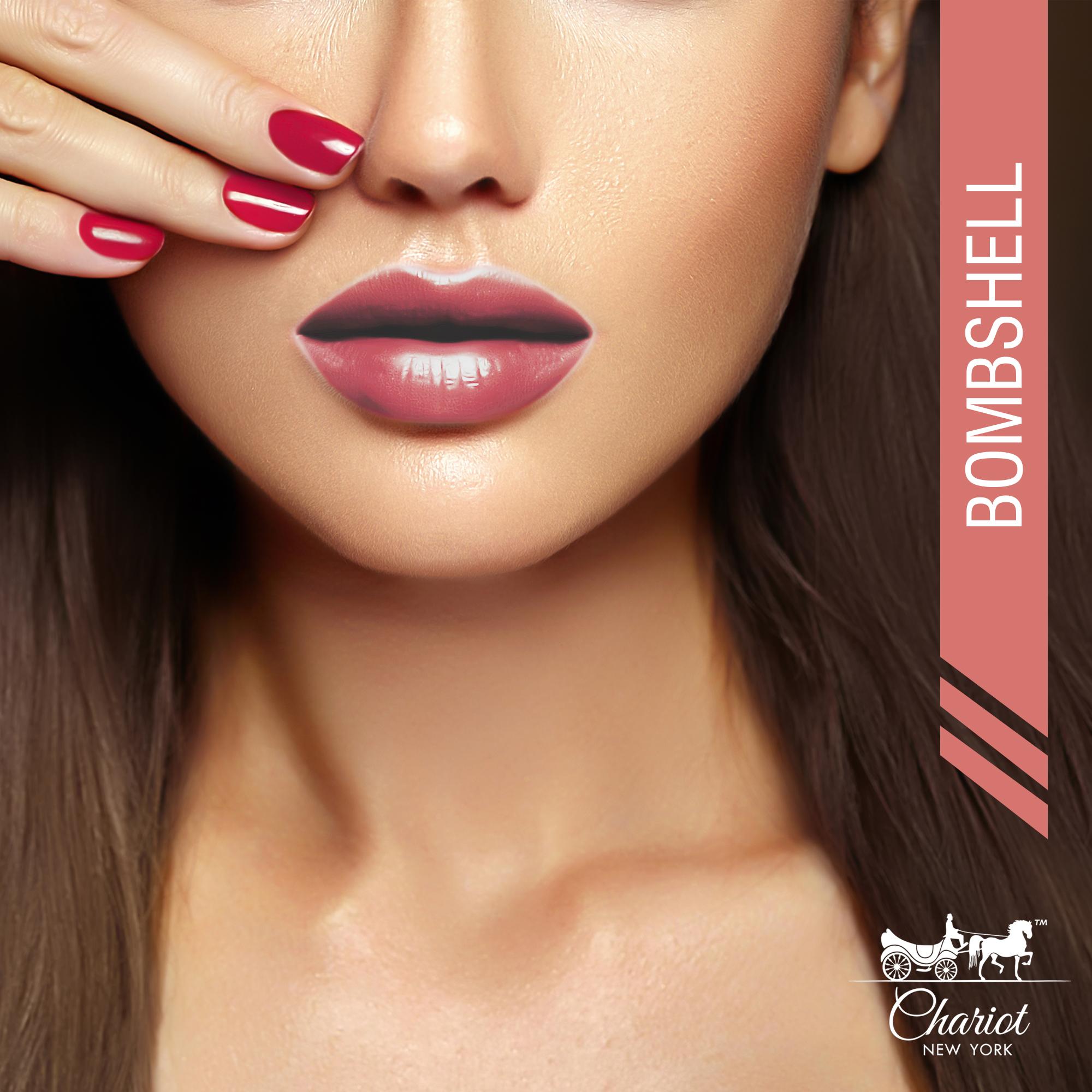 Chariot New York Bombshell Lipstick (Strawberry Pink)