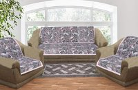 Kirti Finishing White Jungle Print 5 Seater Sofa Slip Cover