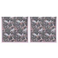 Kirti Finishing White Jungle Print 5 Seater Sofa Slip Cover
