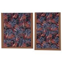Kirti Finishing Black Jungle Print 5 Seater Sofa Slip Cover