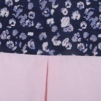 Kirti Finishing Blue Jacquard with Pleats 5 Seater Sofa Slip Cover