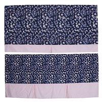 Kirti Finishing Blue Jacquard with Pleats 2 Seater Sofa Slip Cover