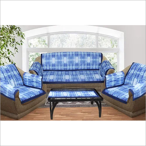 Kirti Finishing Abstract Print 5 Seater Sofa Slip Cover