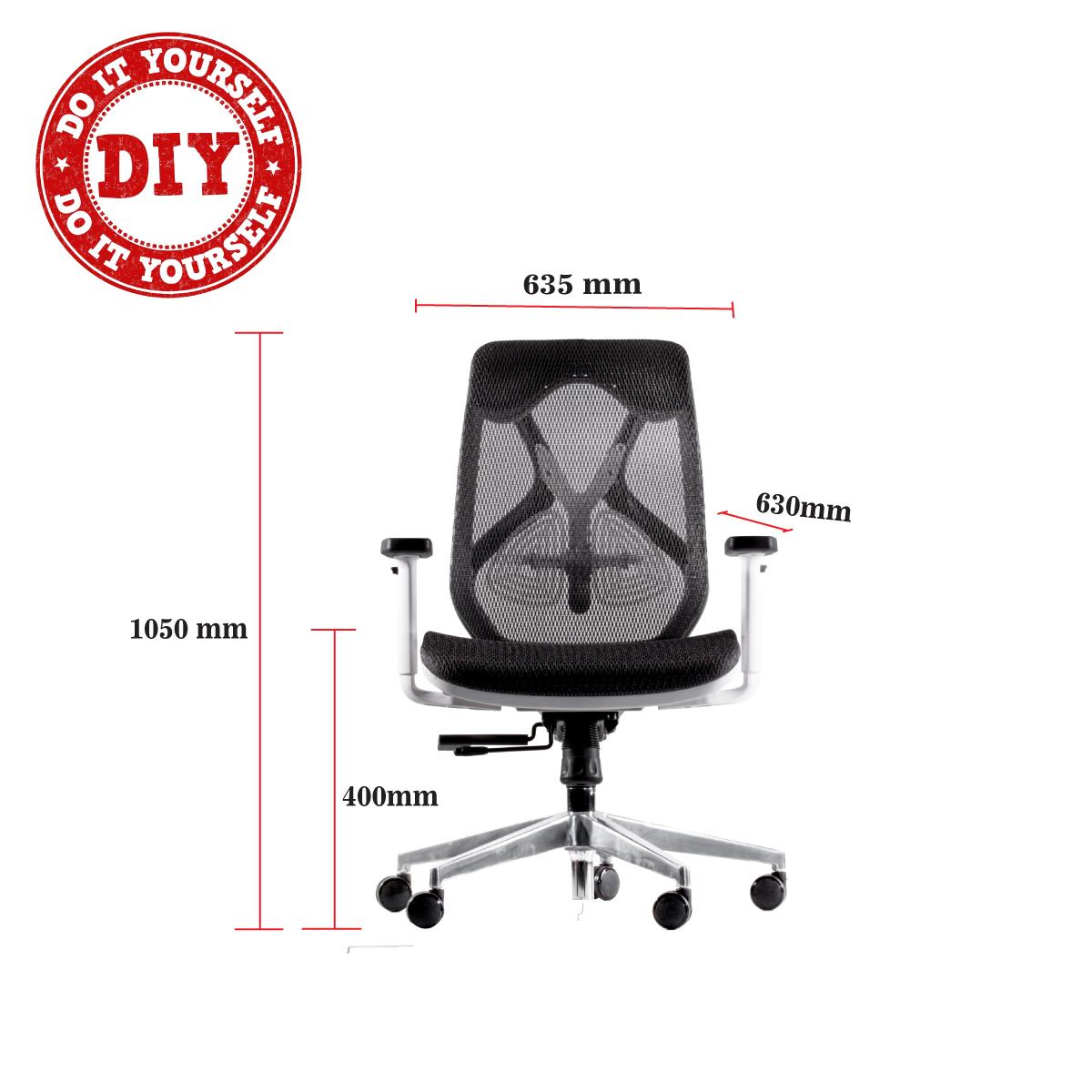 Glider Medium Back Mesh Chair (WFHC 1B)
