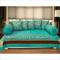 Chenille Printed Diwan Cover Set
