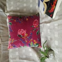Kirti Finishing Pink Multi Velvet Cushion Cover 16 inches