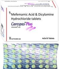 Mefenamic Acid IP 250mg + Dicyclomine HCL IP 10mg./CARESPAS-PLUS