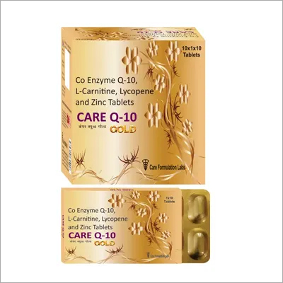 Co Enzyme Q-10  L-Carnitine  Lycopene and Zinc Sulphate.CARE Q-10 GOLD