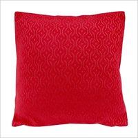 Kirti Finishing Red Jacquard Cushion Cover 12 inches