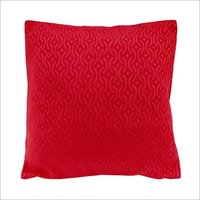 Kirti Finishing Red Jacquard Cushion Cover 16 inches