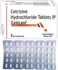 Cetirizine Hydrochloride  IP 10mg./CETICARE (OVAL)
