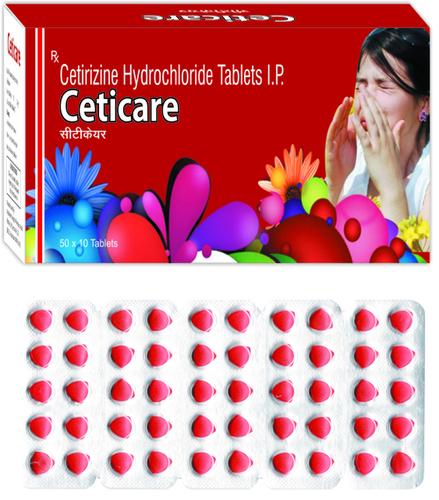 Cetirizine Hydrochloride 10mg(Heart Shape)./CETICARE (HEART SHAPE)