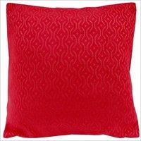 Kirti Finishing Red Jacquard Cushion Cover 18 inches