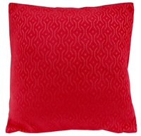 Kirti Finishing Red Jacquard Cushion Cover 20 inches