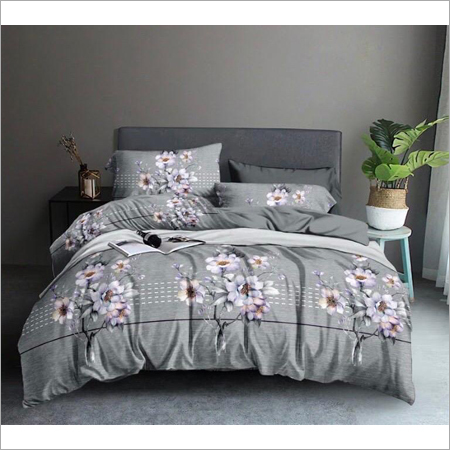 Glace Cotton Double Bedsheet With 2 Pillow Covers
