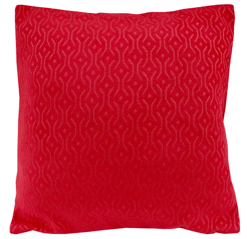 Kirti Finishing Red Jacquard Cushion Cover 24 inches