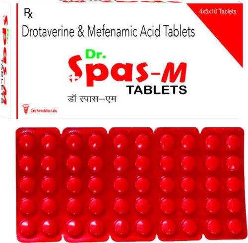 Drotaverin Hydrochloride 80mg +  Mefenamic Acid IP 250 mg./DR.SPAS-M