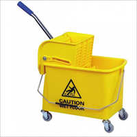 15-17 Ltr Single Bucket Wringer Trolley