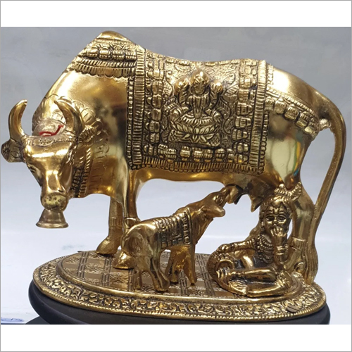 Antique Krishna Cow Statue
