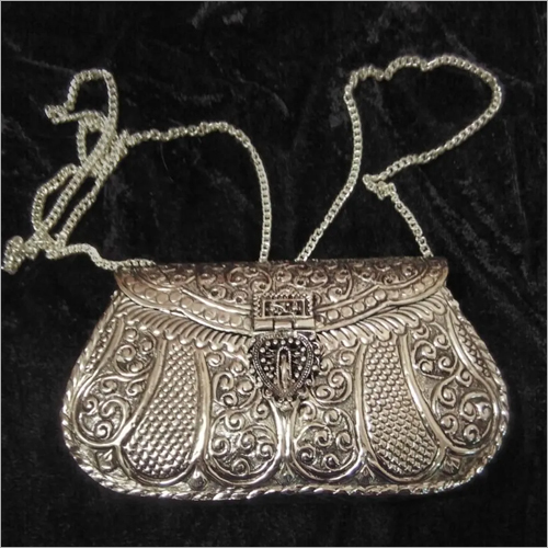 Ladies Oxidised Metal Clutch