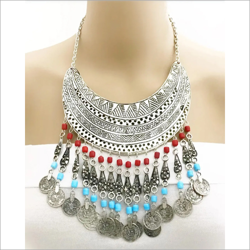 Lace Metal Artificial Necklace