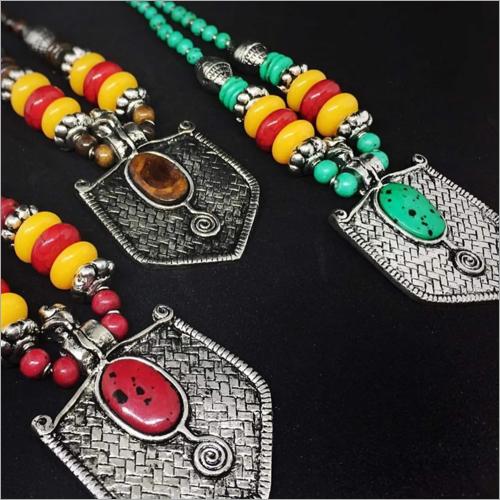 Ladies Oxidized Metal Necklace