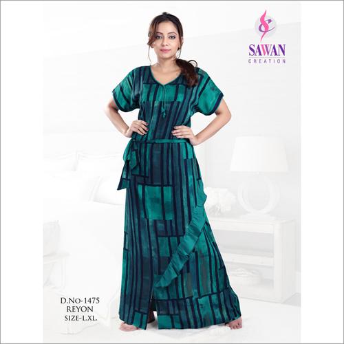 Ladies Rayon Designer Nightwear
