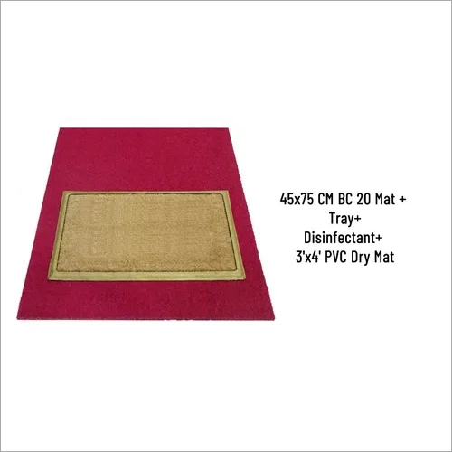 SANI COIR MAT BC20 45 X 76 CMWITH TRAY AND 1 LTRDISINFECTANT