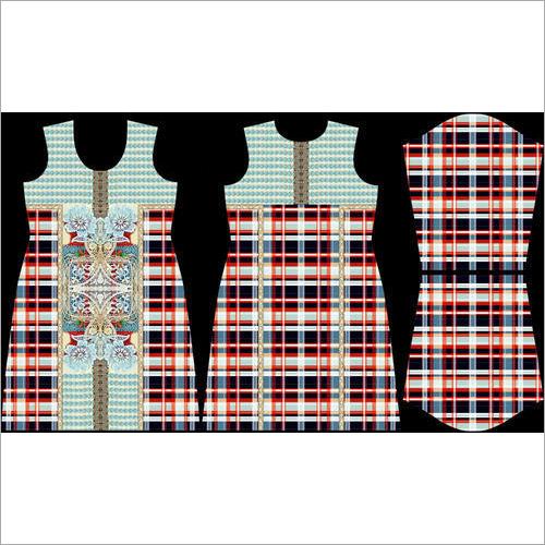 Digital Print Kurti Soft Crape Fabric