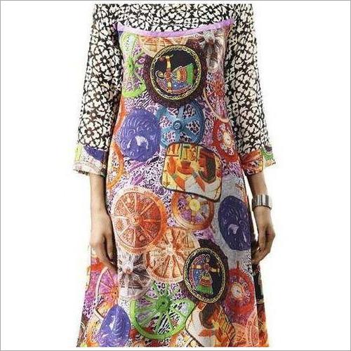 Ladies Digital Print Kurti Fabric