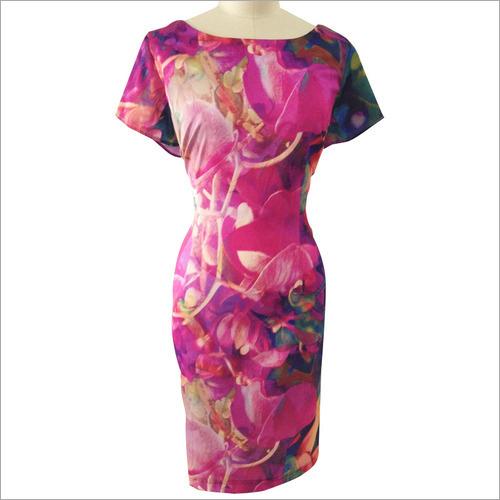 Digital Print Ladies Dress Fabric