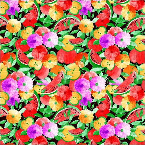 Digital Print 100% Viscose Chinon Fabric