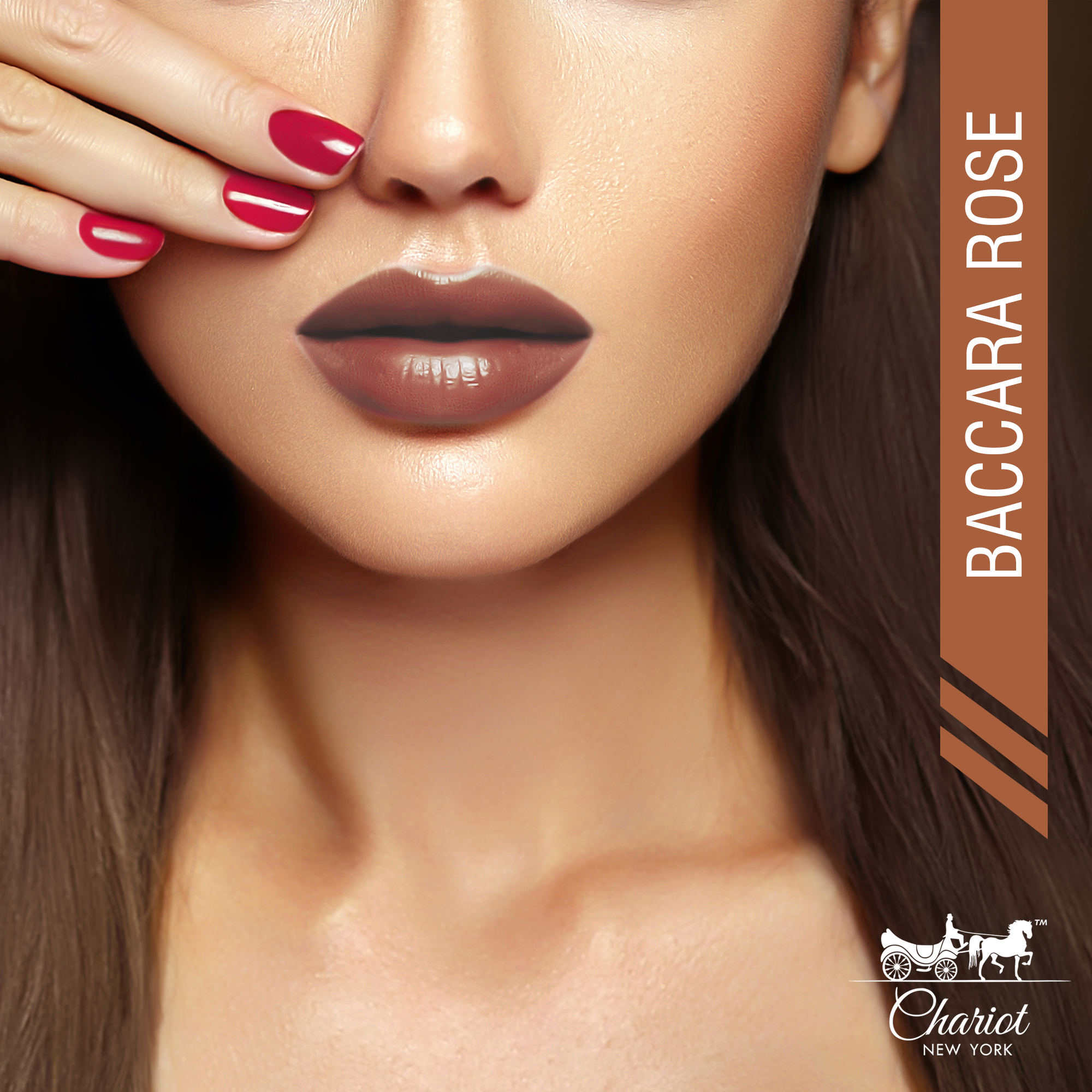 Chariot New York Baccara Rose Creme Lipstick (Brown)