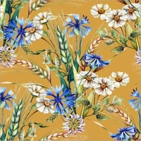 Digital Print 100% Polyester French Crepe Fabric