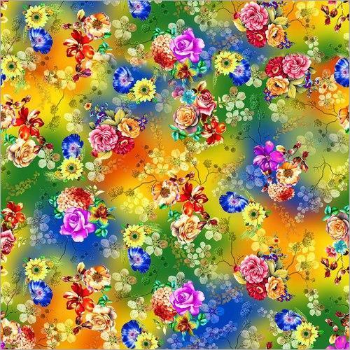Digital Printed 100% Polyester Flat Chiffon Fabric