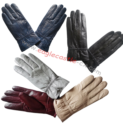 Leather Sheep Gloves For Femal