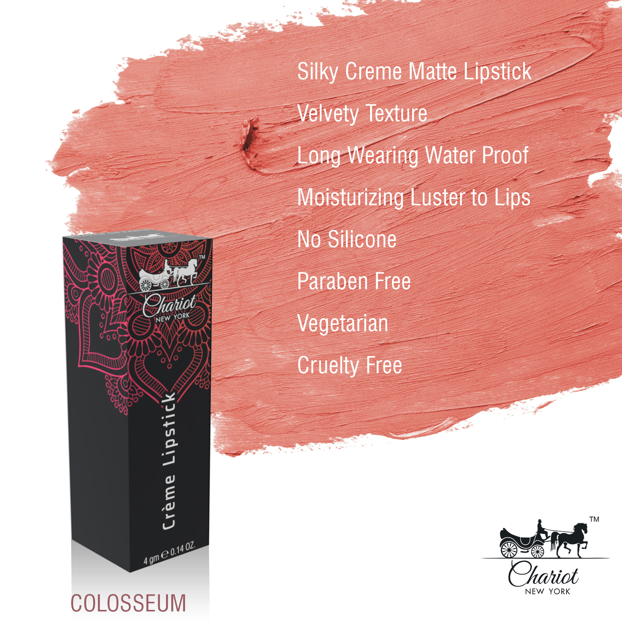 Chariot New York Colosseum Lipstick (Pink)