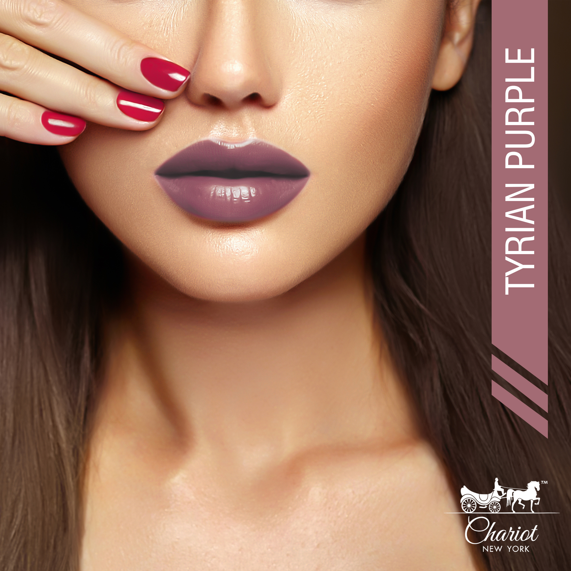 Chariot New York Tyrian Purple Lipstick (Mauve)