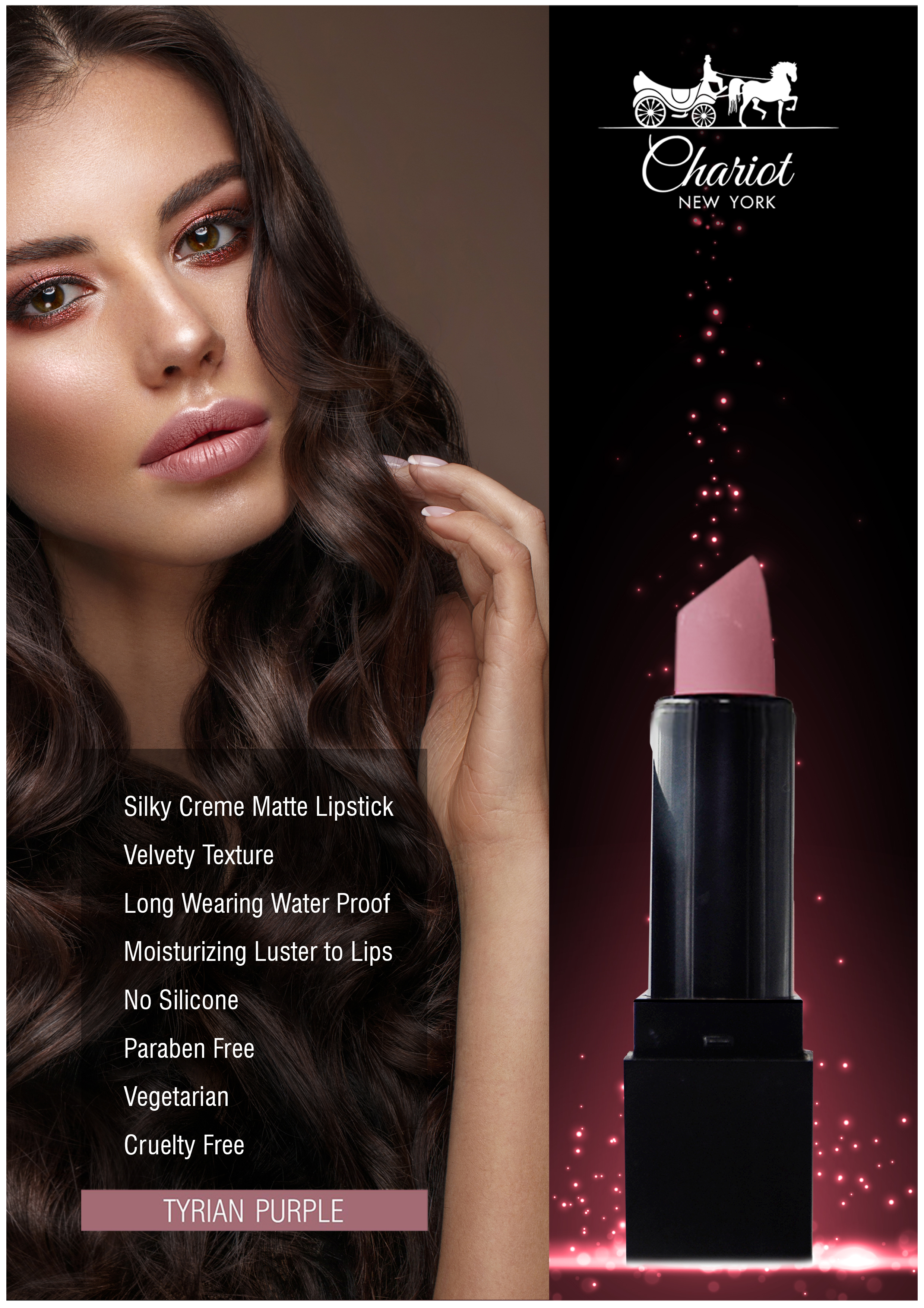 Chariot New York Tyrian Purple Lipstick (Mauve)
