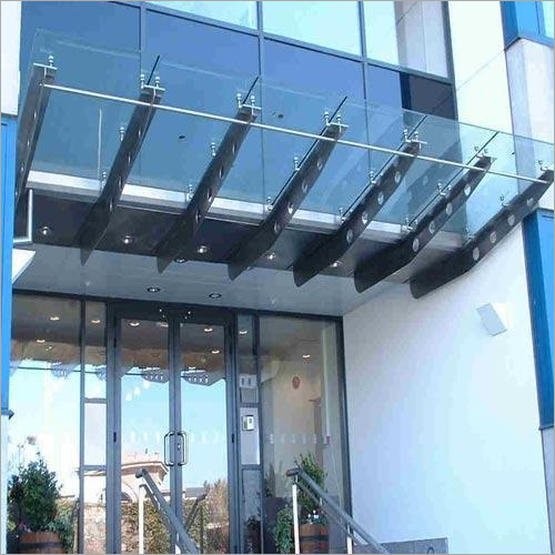 Stainless Steel And Glass Canopy