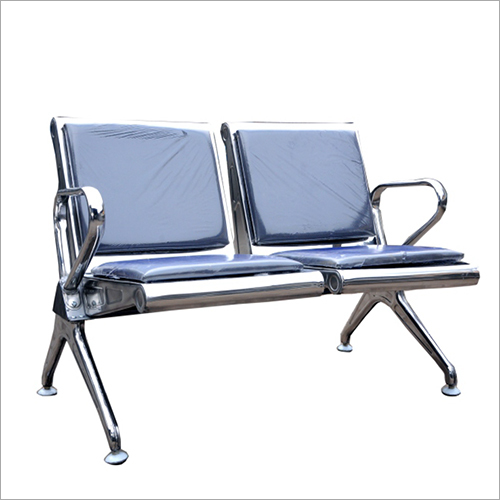 PU Leather Cushioned Two Seater Waiting MS Chair