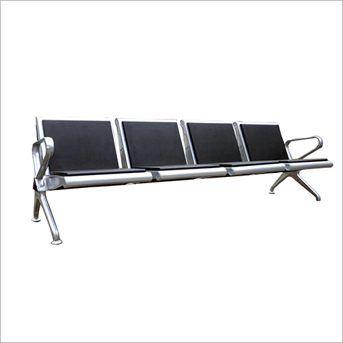 PU Leather Four Seater Visitor Chair