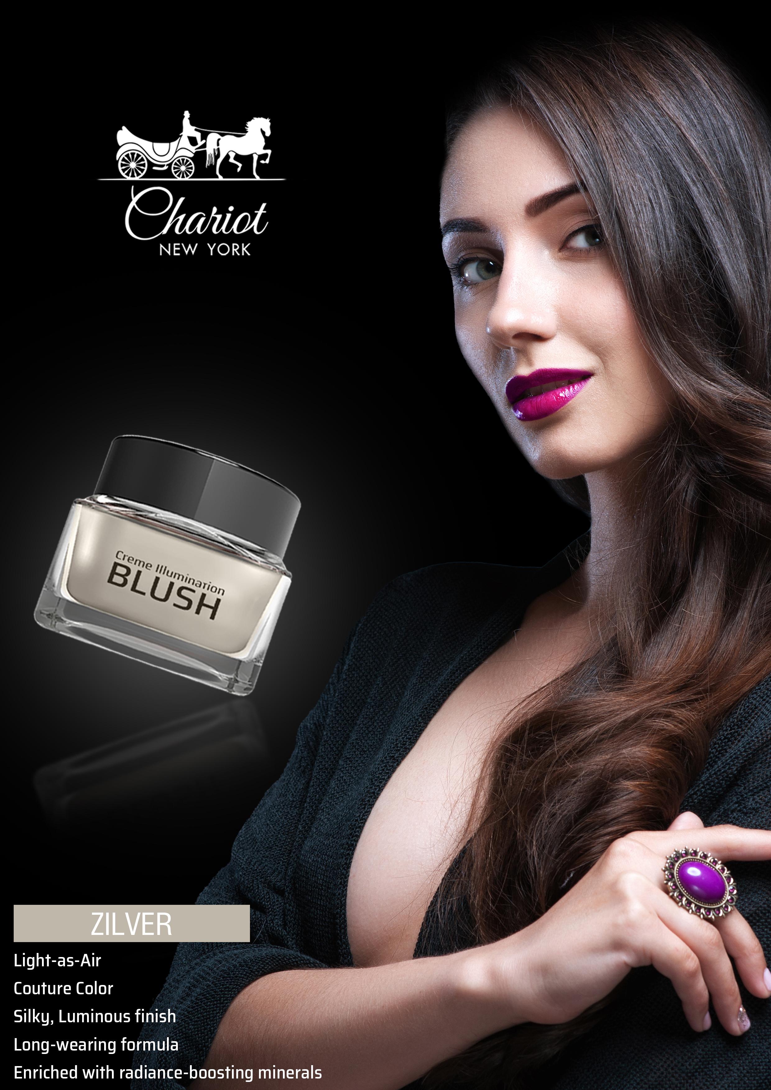 Chariot New York Zilver Shimmer Blush (Silver)