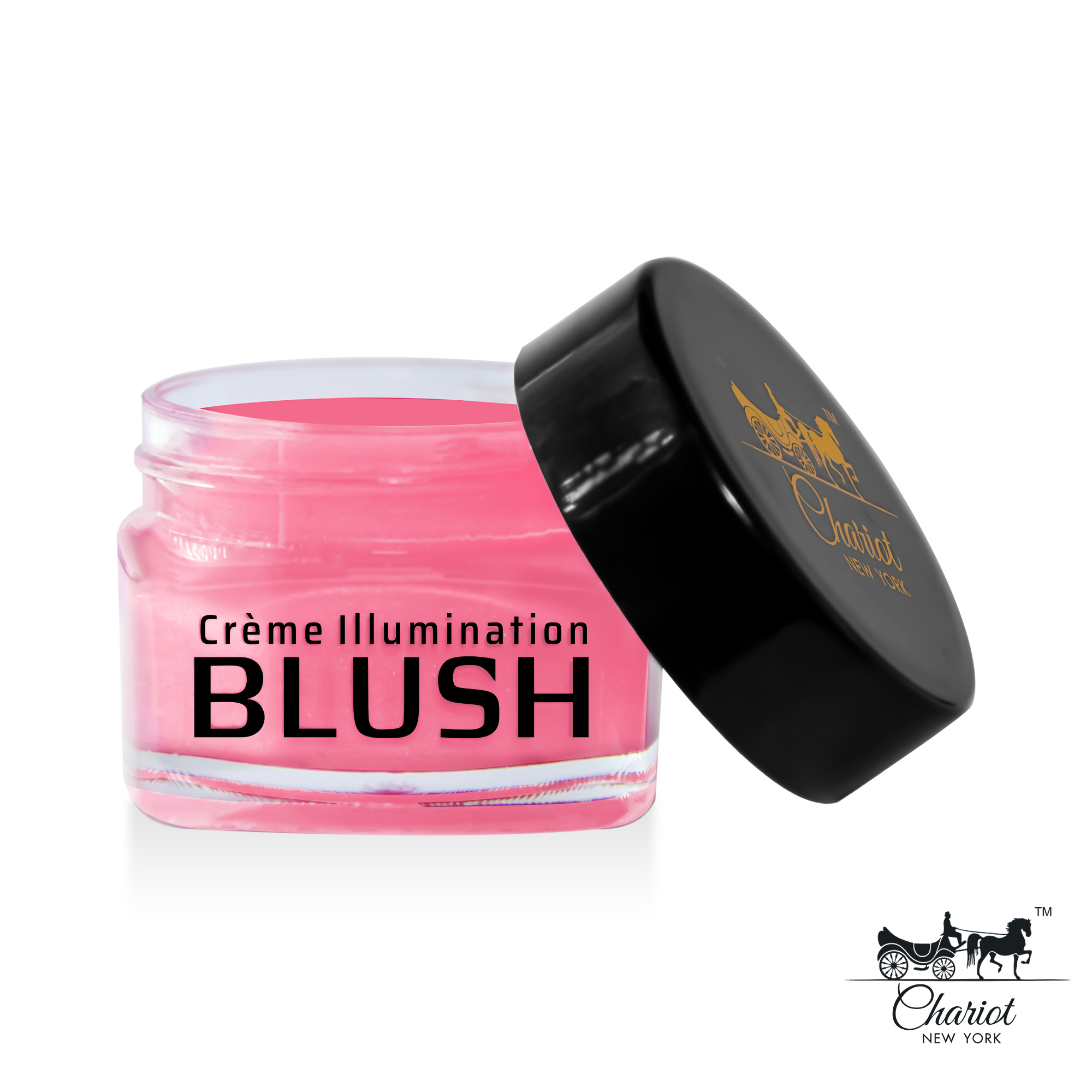 Chariot New York Hot Pink Shimmer Blush (Hot pink) 10gm
