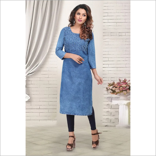Ladies Stylish Denim Kurtis
