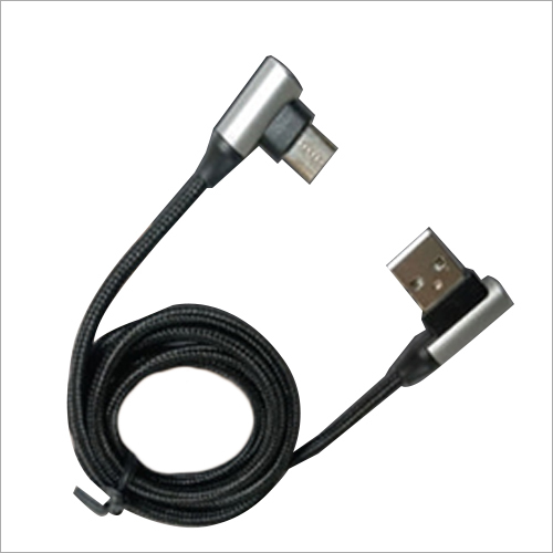 Braided L-shape Data And Charging With Micro Usb Cable