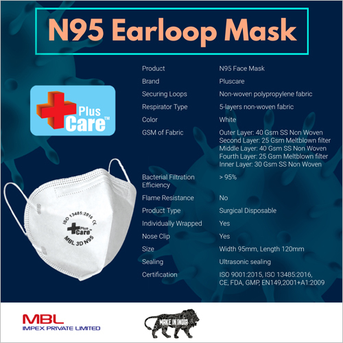 N95 Earloop Mask