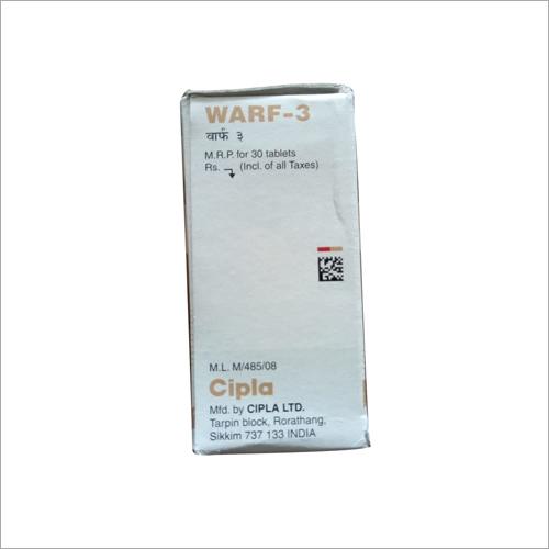 WARF 3 mg Tablets