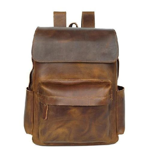 Buffalo Leather Casual Backpack Bag