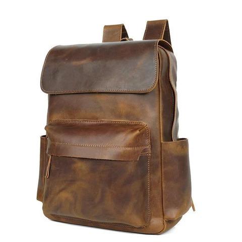 Buffalo Leather Casual Backpack Bag